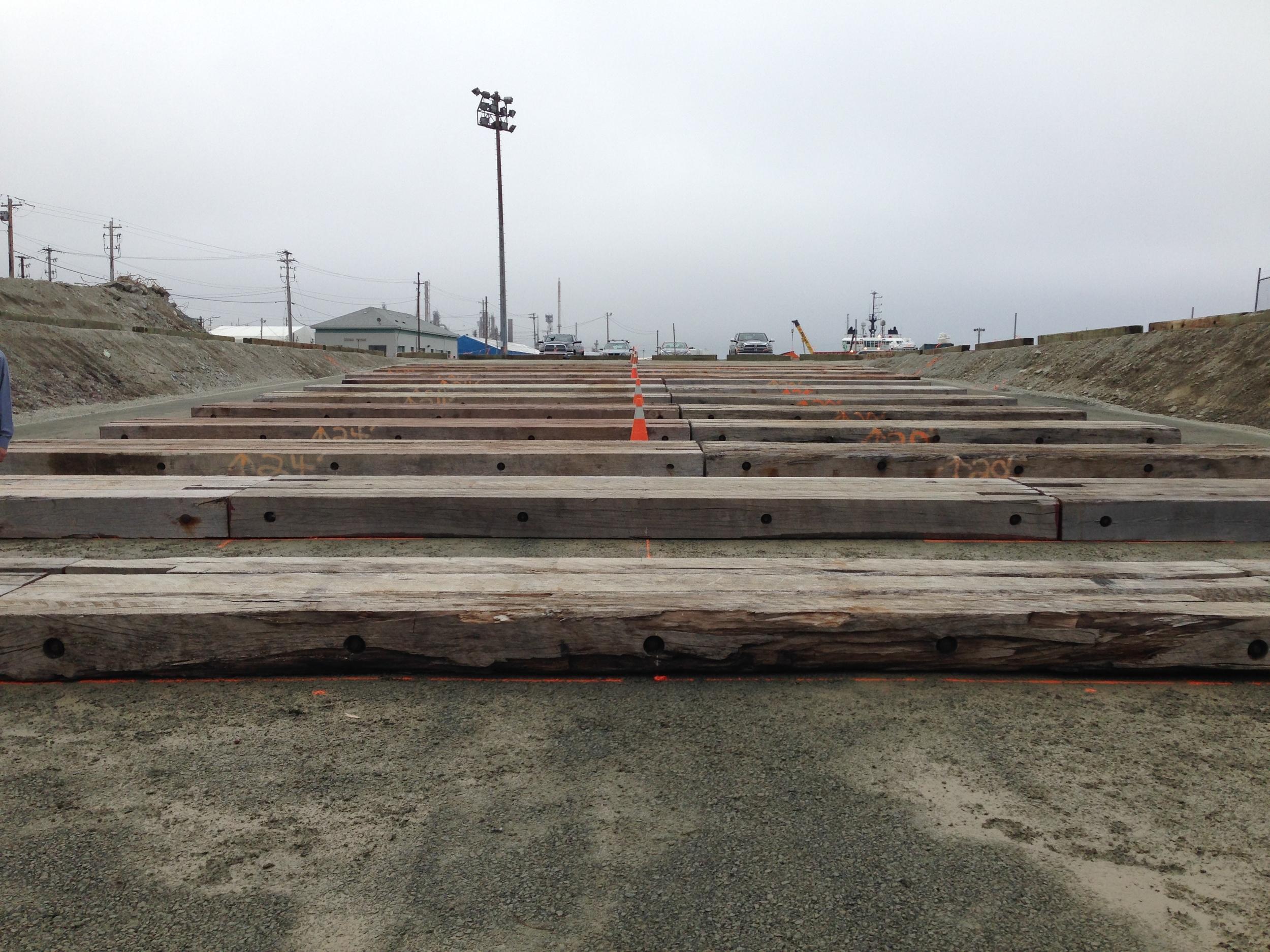Slipway Prepared for Pontoon Construction