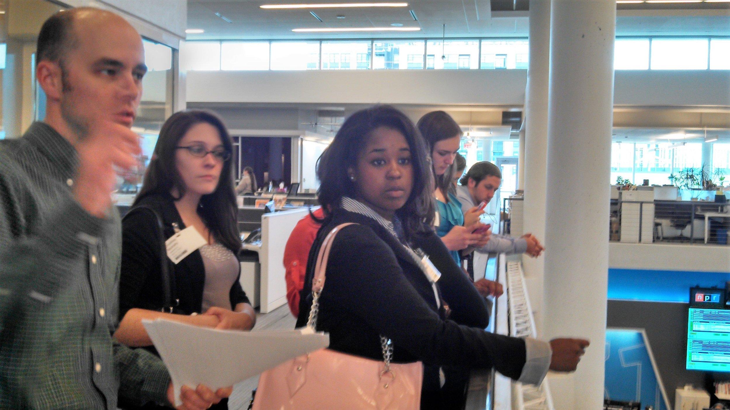 Salisbury University Marketing Club, Marketing Excellence, visits NPR