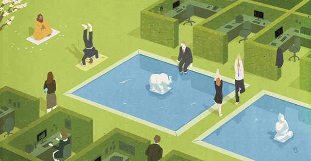 Illustration by Min Gyo Chung; sourced from  'The mindful corporation' by Adria Vasil, Corporate Knights,  Spring 2014 Issue