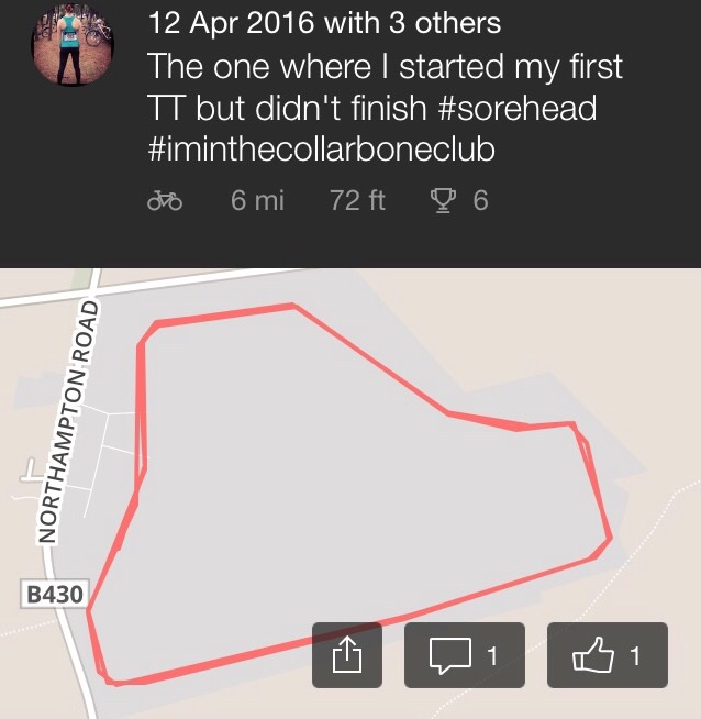 My Strava record is included here to pique the interest of my fellow cyclists only...