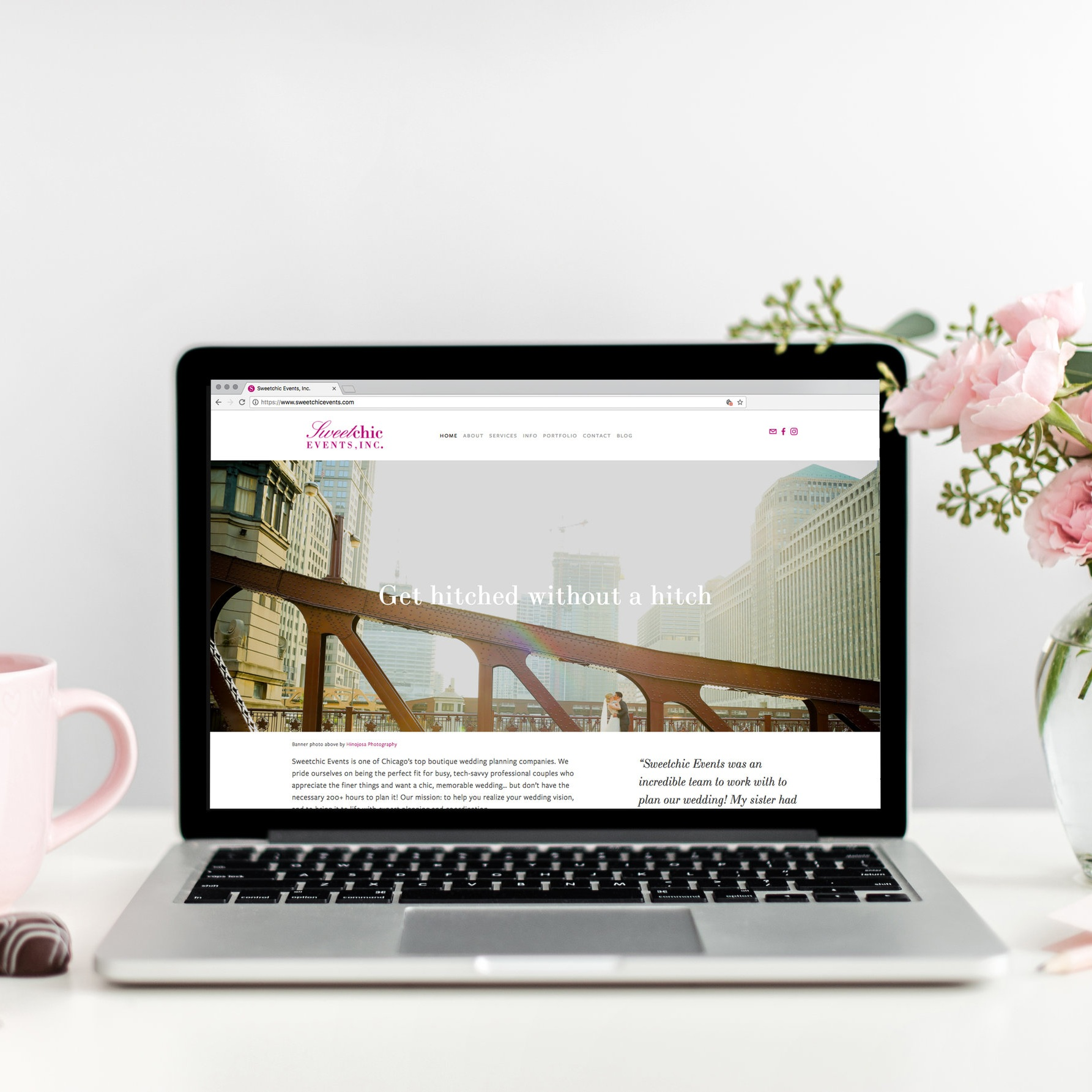 Sweetchic Events - Web design, UI, UX