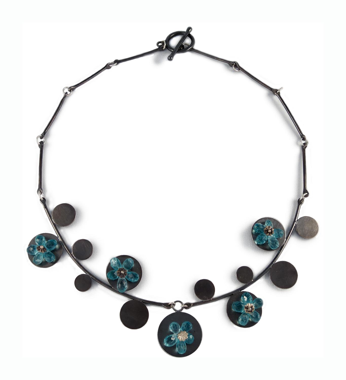 Blue Flowers, necklace