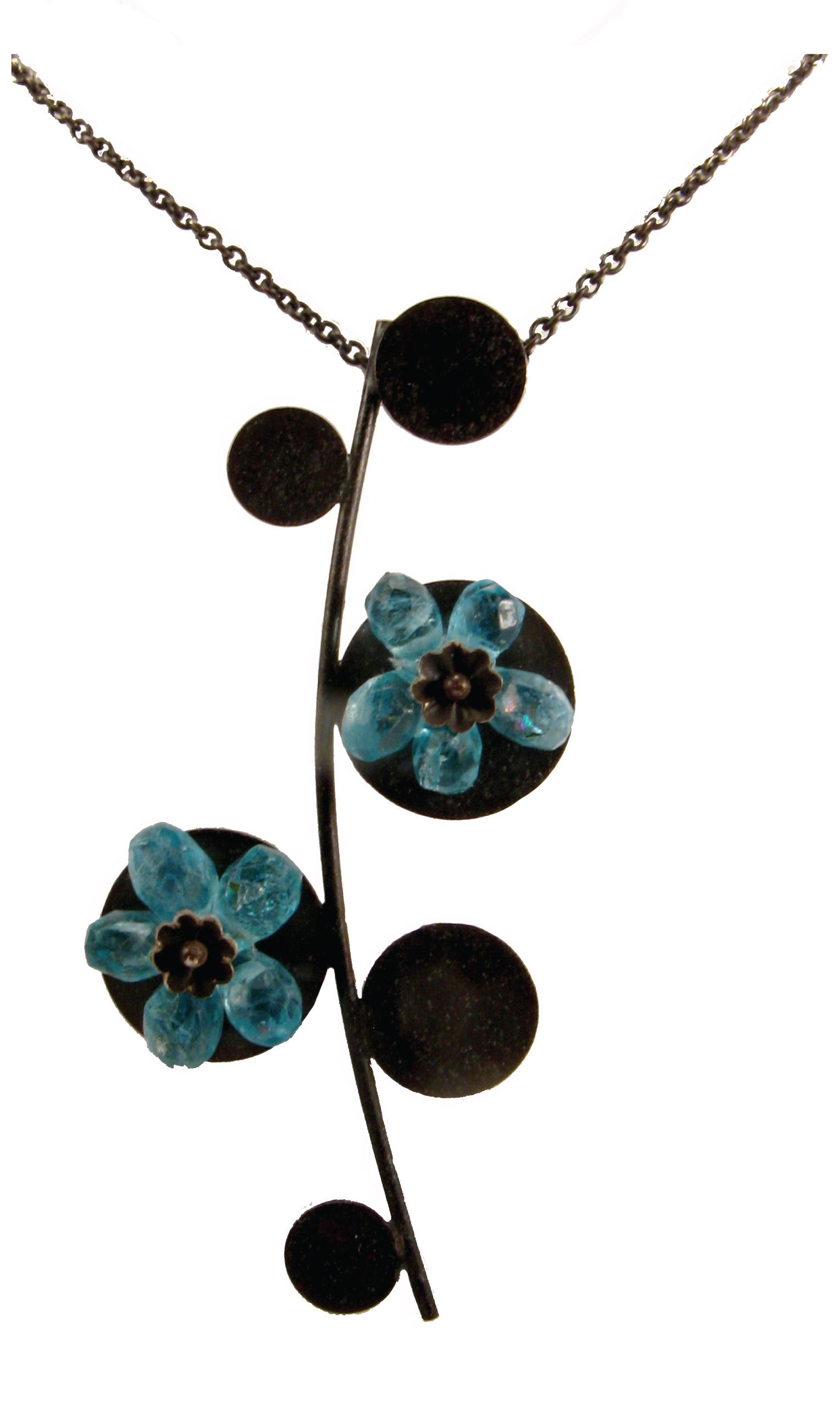 Blue Flowers, pendant