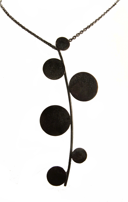 Cherry Blossoms, black pendant