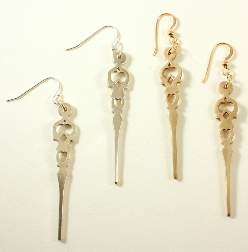 Time, hour earrings