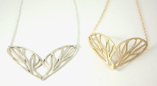 Wings, two wing necklaces
