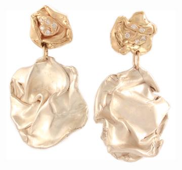 Fold, 14k earrings