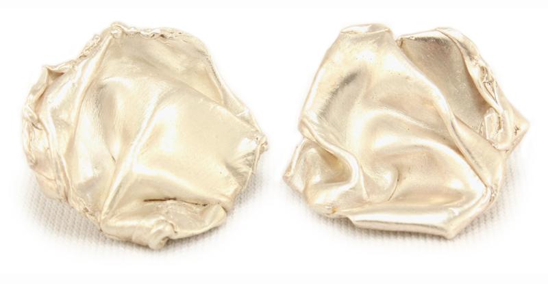 Fold, silver studs