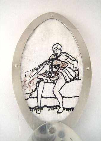 Mo(u)rning Sex, brooch detail