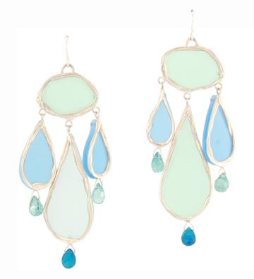 Neon Tears, blue earrings