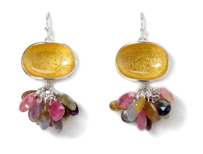 Light, earrings