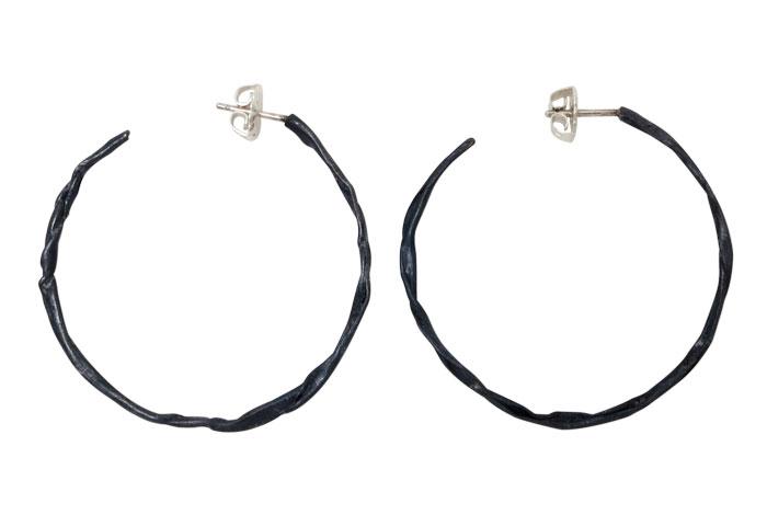 Fold, hoop earrings