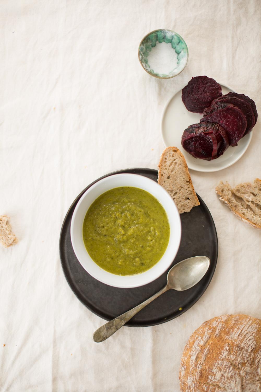 Celery, Spanish White Beans & Persian Dried Herbs Soup | سوپِ کرفس، لوبیا و سبزی خشک
