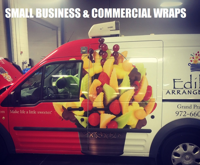 Dallas small business car wraps 469.340.2901