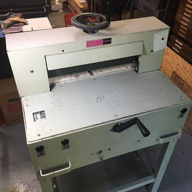 """New"" (1978) paper cutter! This is exciting to a printer...😊 #papercutter #printing #triumph4810"