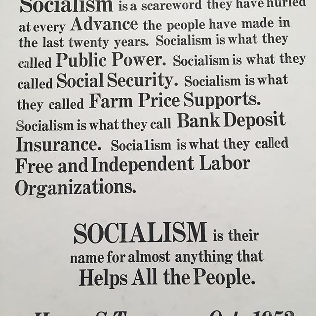 "I KNEW Truman was a damned socialist... (bottom of the image says ""Harry S Truman Oct.1952"""