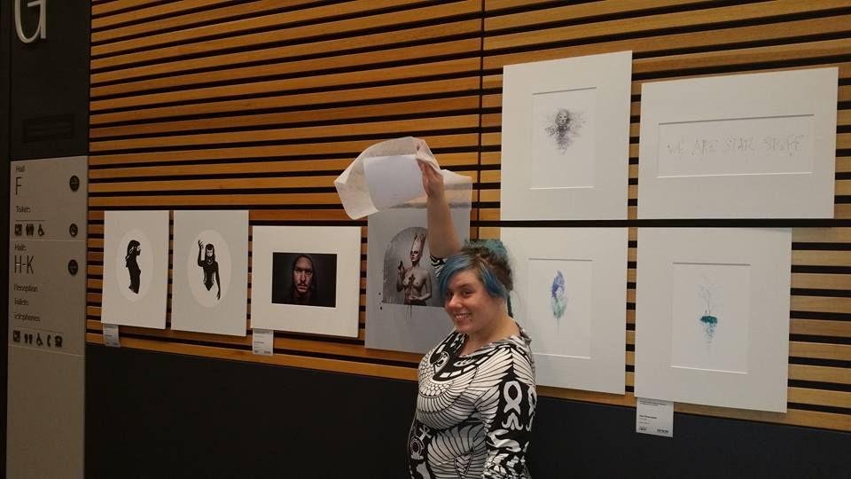 Me with my image at the Convention Centre