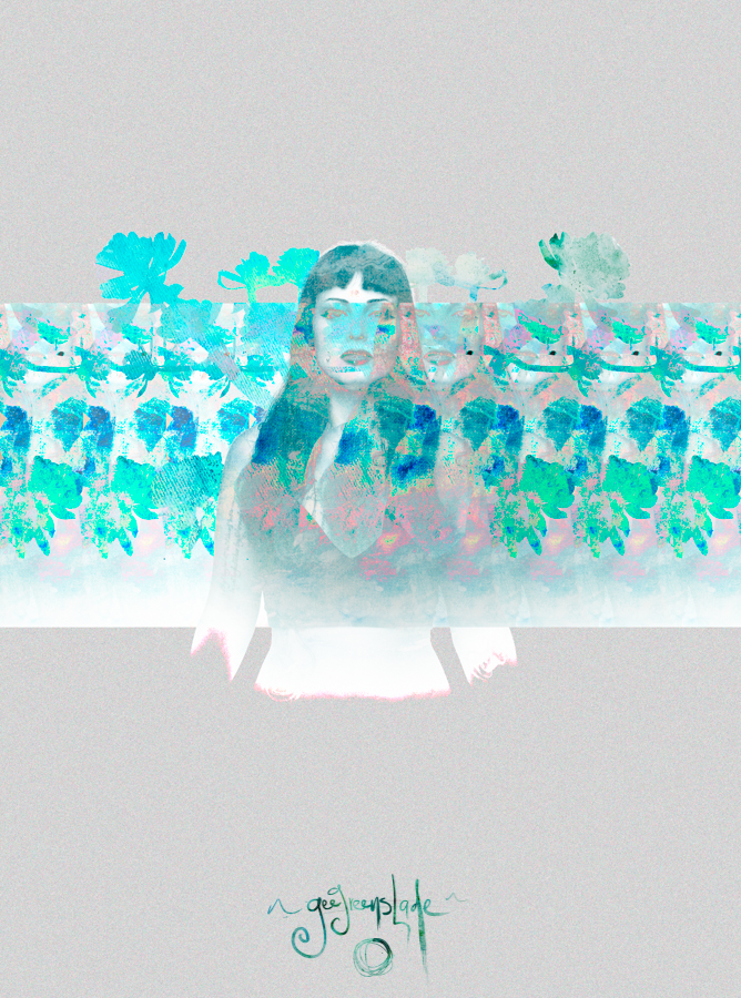 A glitched image created in workshops for Hair of the Dog