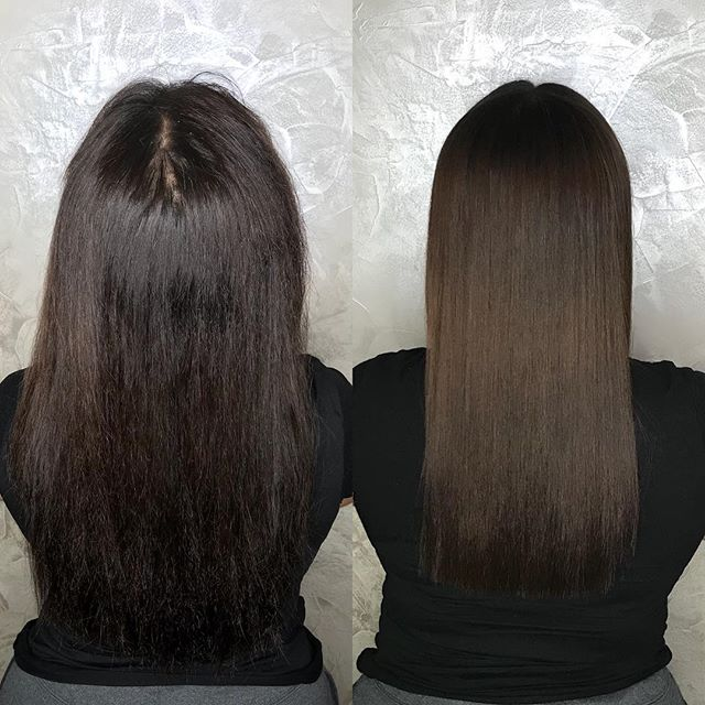 Magic Sleek and Haircut by Destiny to give temporary straightness that lasts up to 6 months 🤩 These are AIR DRIED results! . . . . . #magicsleek #magicsleekny #treatmentspecialist #nycstylist #colorworksny #colorworksdestiny