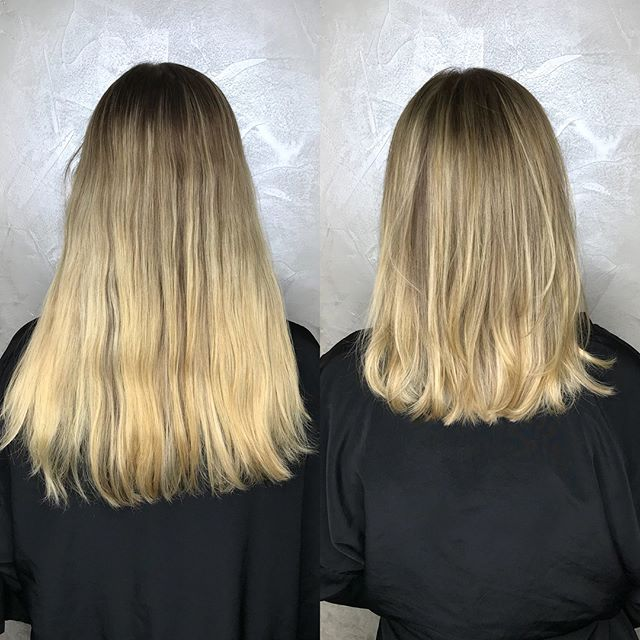 1/2 head highlights and haircut by Destiny between full highlighting sessions tie ends to the regrowth and give a brighter effect at the root (in this case) ✨🤩 . . . . . #blondespecialist #halfheadhighlights #nychighlights #beigeblonde #colorworksny #colorworksdestiny