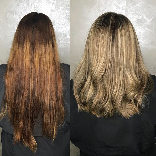 Color Correction, Haircut and Brazilian Blowout Express Treatment by Destiny 😱✨ Using @pulpriot lighteners and @brazilianbondbuilder  to maintain the integrity of the hair through all the lightening, avoiding fallout and protecting from damage. . . . . #colorcorrection #nyccolorcorrection #correctivecut #blondespecialist #sandybeigeblonde #beigeblonde #brazilianblowout #b3 #brazilianbondbuilder #bbexpress #colorworksny #colorworksdestiny