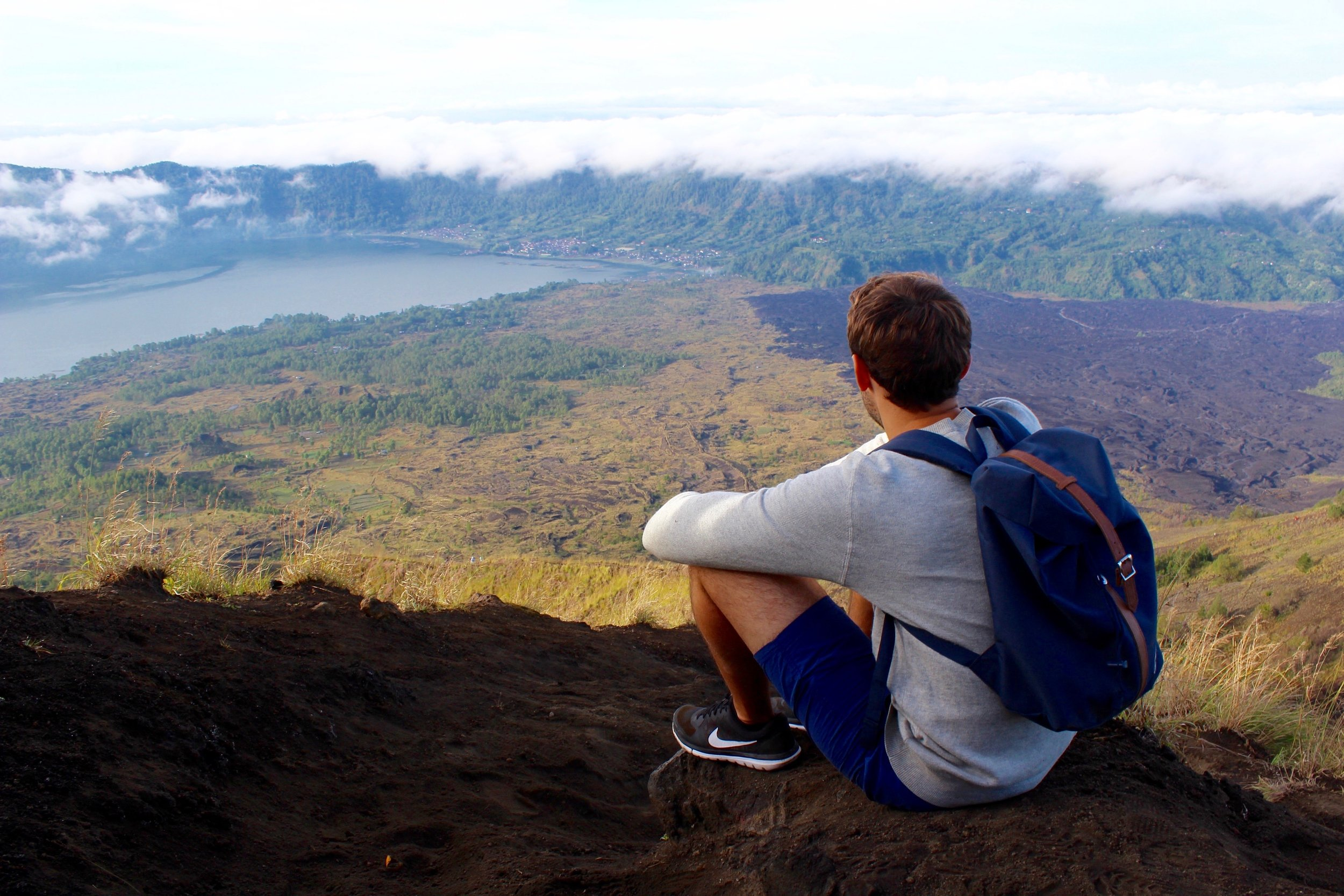 Descending Mount Batur, Indonesia