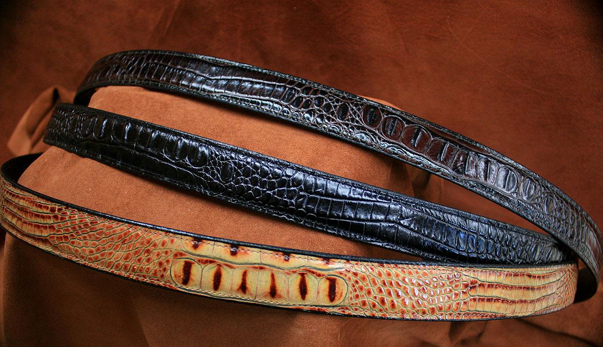 Embossed Hornback Alligator Belts - $70