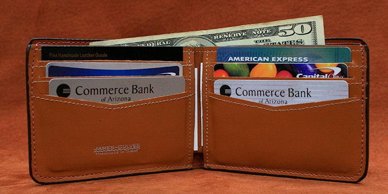 CF - Six Slot Horizontal Bifold Wallet.
