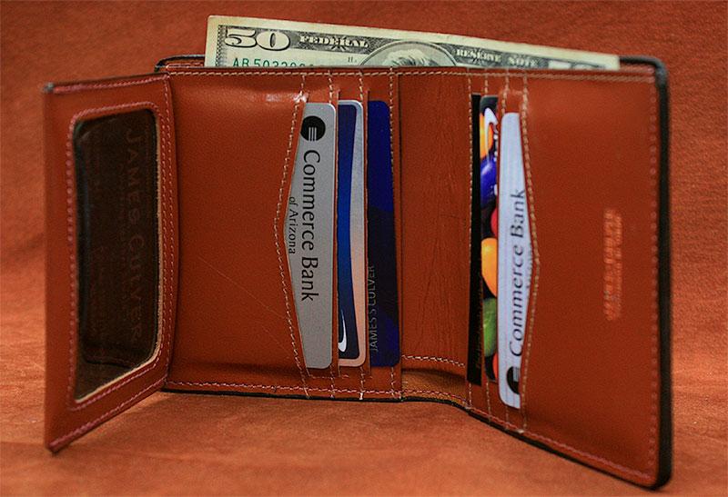 J1 - Six Slot Vertical Bifold Wallet