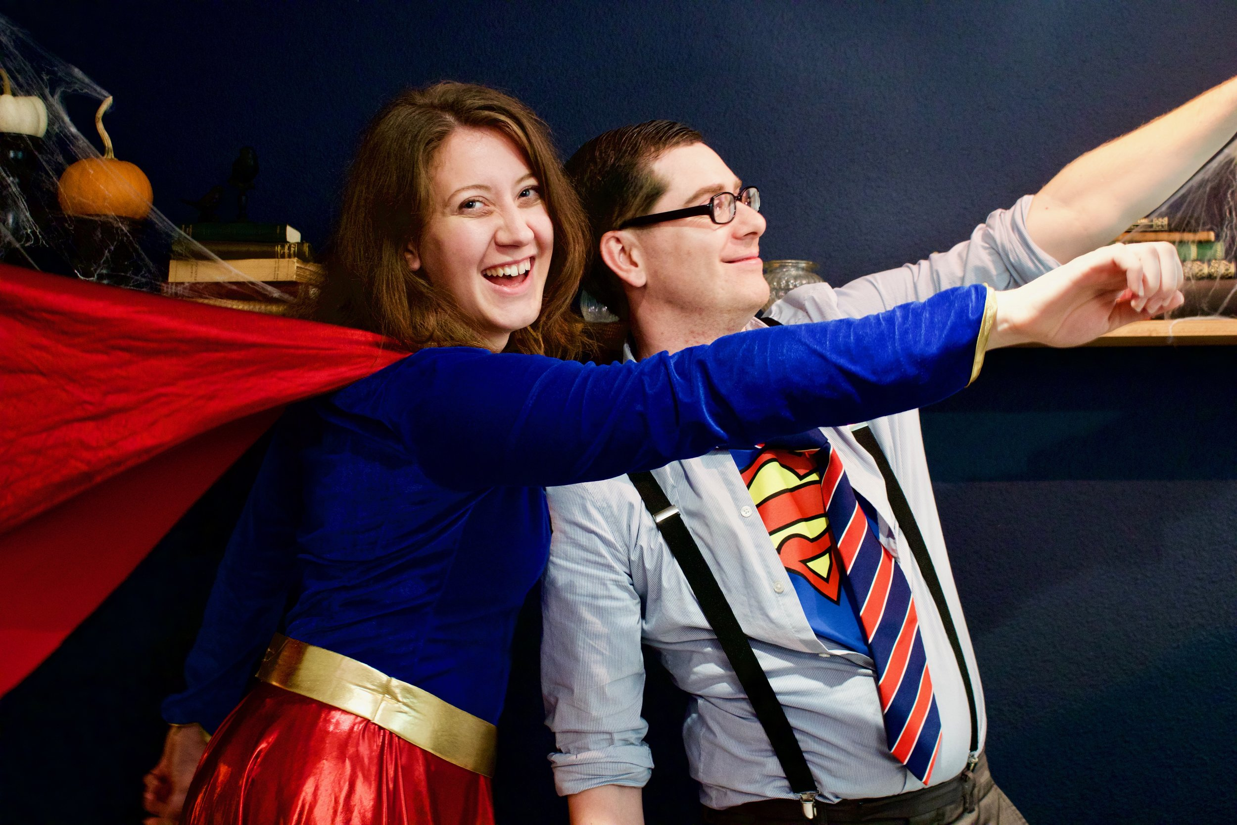 Halloween Party superman superwoman couples costume