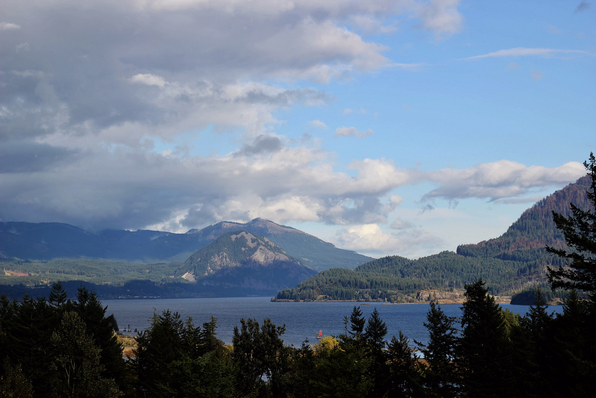 View of The Gorge from hotel room at Skamania Lodge, Copyright Nicole Burron