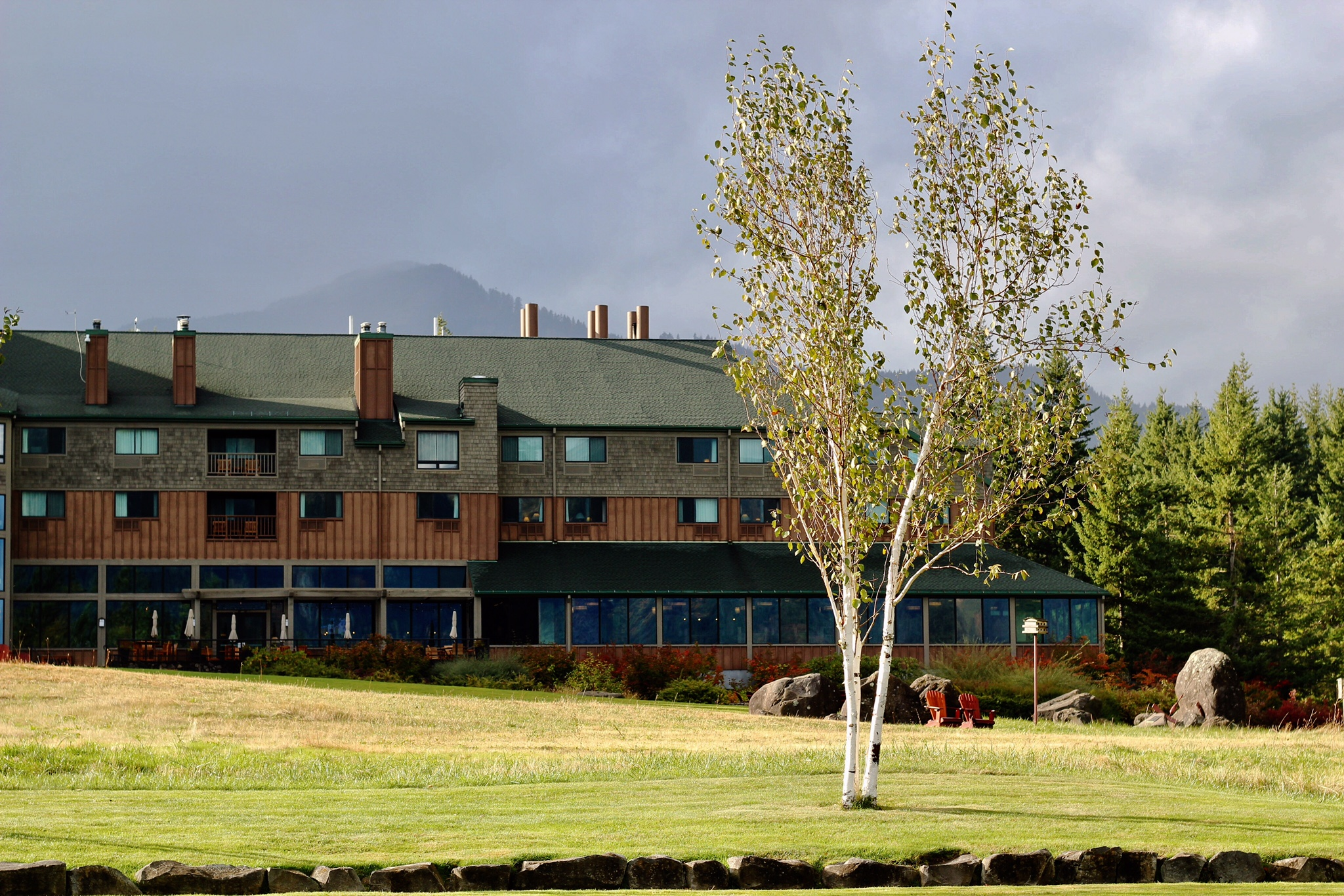 Back view of the lodge facing The Gorge, Copyright Nicole Burron