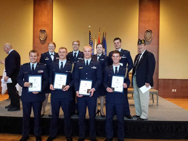 Post 501 AF ROTC Awardees - 4/15/2016