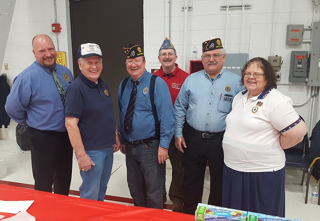 American Legion in support of the 115 TFW WI Air Nat'l Guard Christmas Party on 12-4-2016.