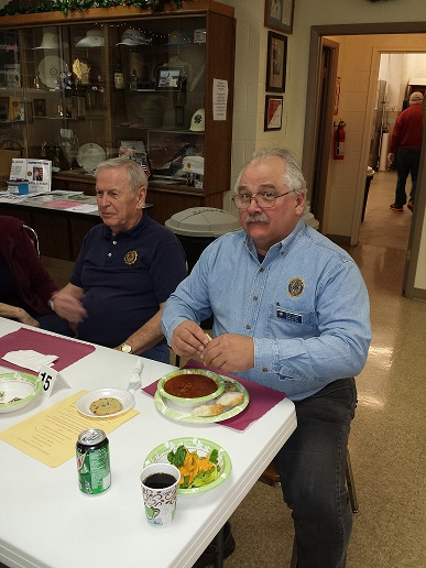 Keith & Phil enjoying Cdr. Tom's Chili Dinner on 1/14/2017.