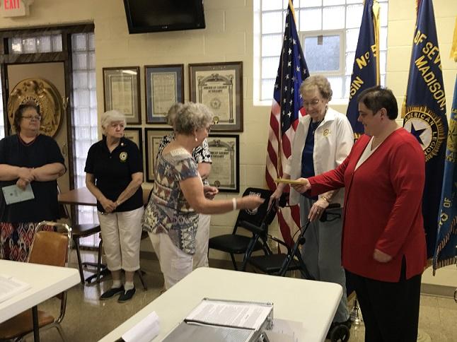 President Rebecca Lovell being recognized for her leadership on June 14, 2017.
