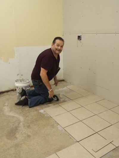 Rich setting tiles in the Post 501 History/Auxiliary meeting room, 6/29/2017.