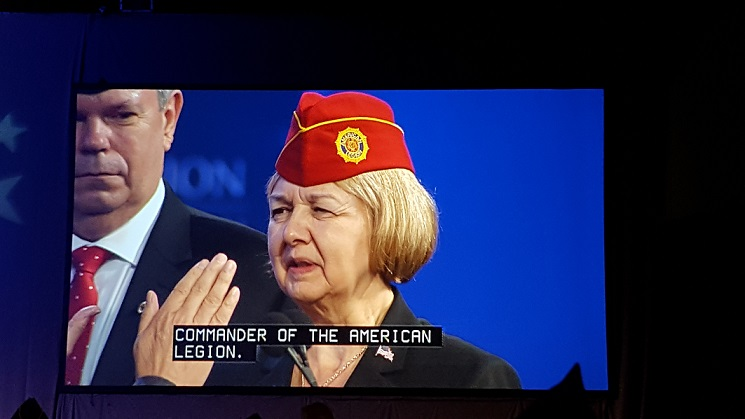 Denise H. Rohan Elected National Commander for 2017-18, at American Legion Nat'l Convention, Reno, NV, 8-24-2017.