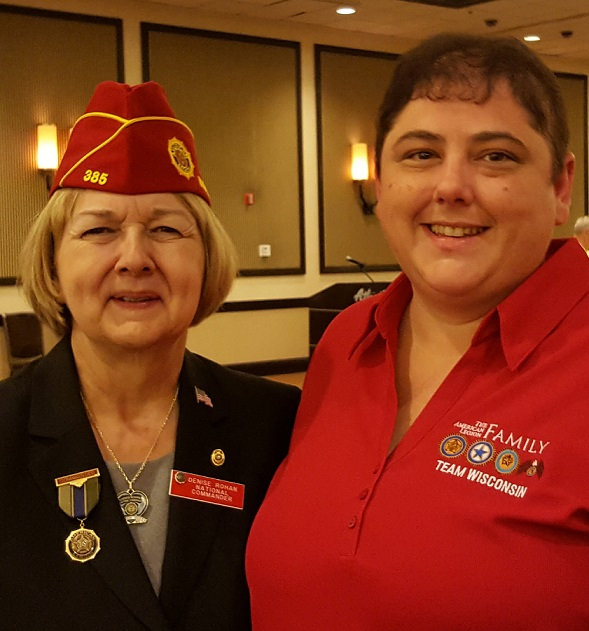 Denise Rohan, National Commander and Unit 501 President, Rebecca Lovell, 8-24-2017.