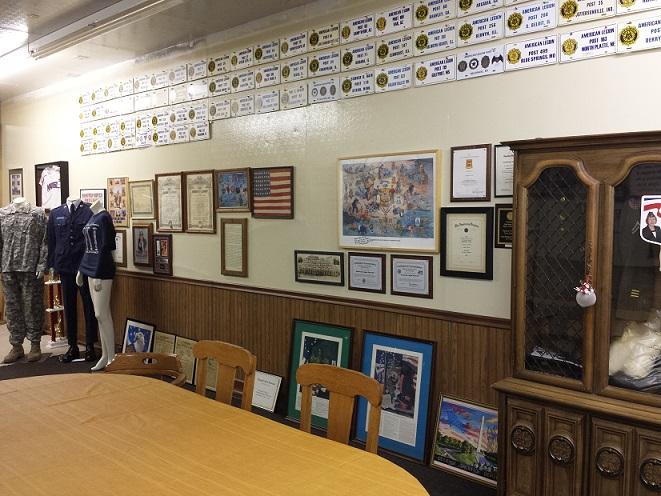 Post 501 history wall