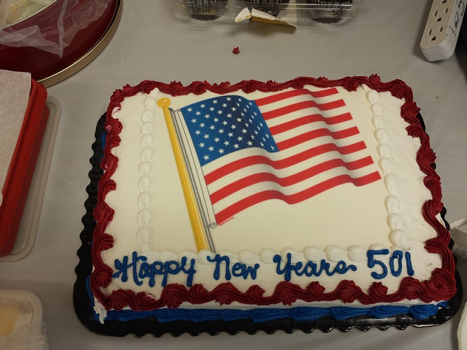 What is a New Year's celebration without a cake!