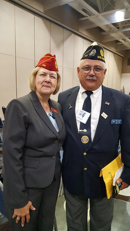 National Cdr. Denise Rohan and 3rd District Cdr. Keith Lovell in attendance at  the Dept. of Wisconsin Annual Convention in Oshkosh, 7-15-2018.