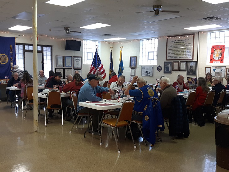 Attendees at Post 501's breakfast on 10-13-2018.