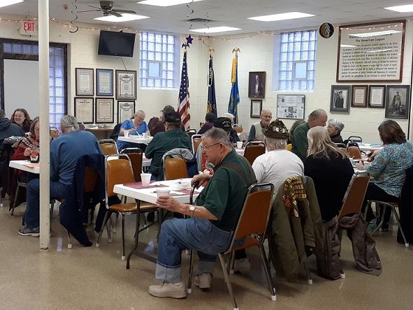 Folks enjoying Post 501's breakfast on Jan. 12th.