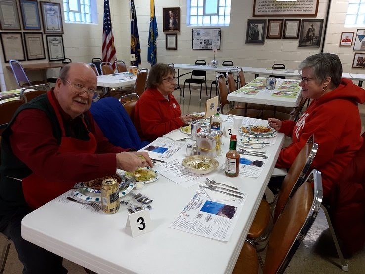 Bill, Carol & Colleen enjoying the chili at Post 501's Chili Dinner on 1/26/2019.