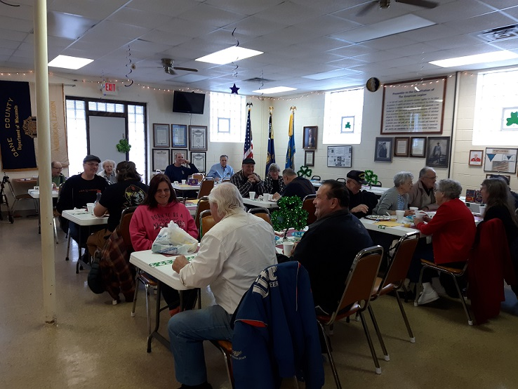 Participants at Post 501's March 9th breakfast.