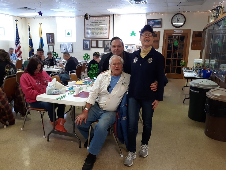 Happy customers at Post 501's breakfast on 3/9/2019.