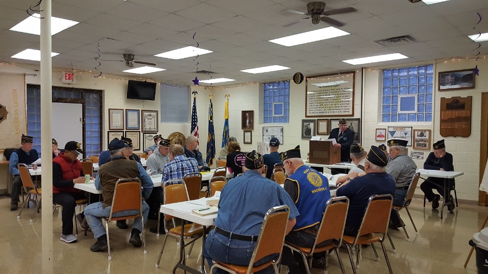 A full house at Post 501's members meeting on 4-10-2019.