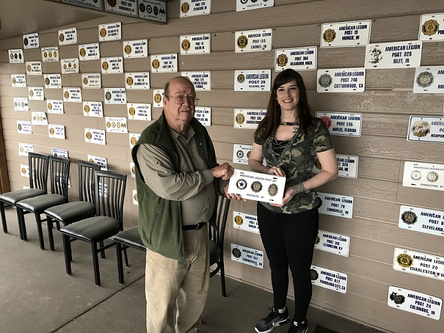 During a recent visit to Post 34, Indianapolis, IN, members from Post 501 exchanged license plates with Post 34's Commander on 4/27/2019.