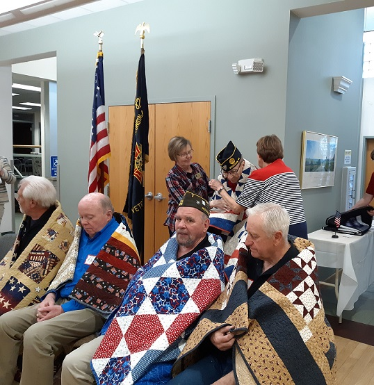 Quilt presented to Don Schaefer by Sugar River Chapter of the Quilts of Valor.